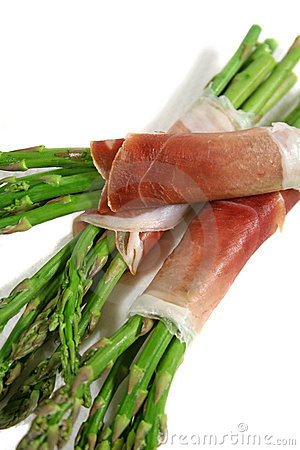 Free Asparagus With Prosciutto 2 Royalty Free Stock Photography - 2189847