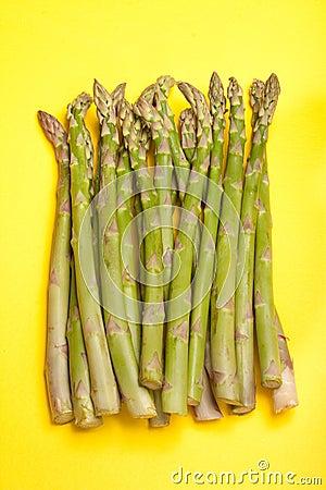 Asparagus on Yellow