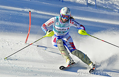 Aspen, CO - Nov 27: Lena Duerr  at the Audi Quattr Editorial Stock Photo