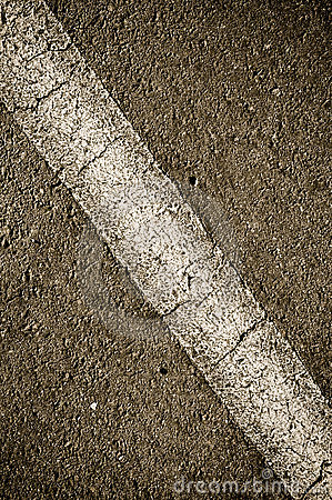 Asphalt with Diagonal Line