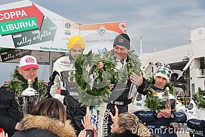 Asphalt Rally Cup Liburna, winners, podium team Editorial Image