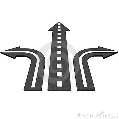 Asphalt road With arrows