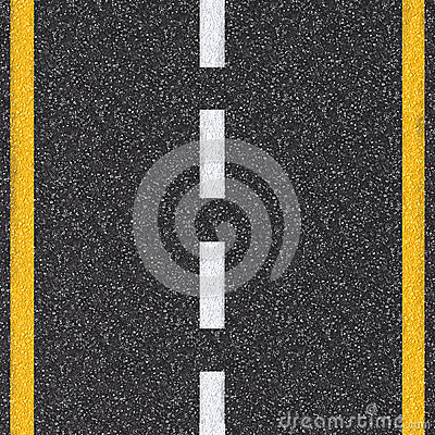 Free Asphalt Road Top View With White And Yellow Lines Stock Photography - 81998002