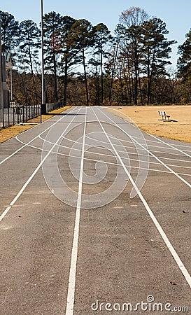 Asphalt Running Track Straight Away