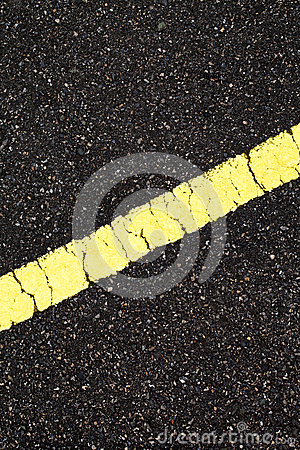 Asphalt with slope yellow line