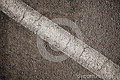 Asphalt With White Diagonal Line