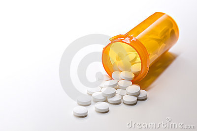 Aspirinmedizin mit Flasche