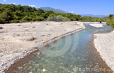 Aspropotamos river in Greece