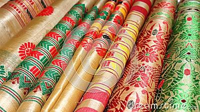 Assam Silk Stock Photo