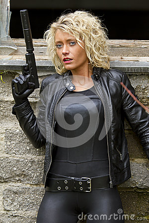 Free Assassin In Fear Royalty Free Stock Image - 27333966
