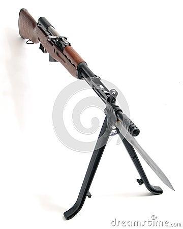 Assault rifle with bayonet