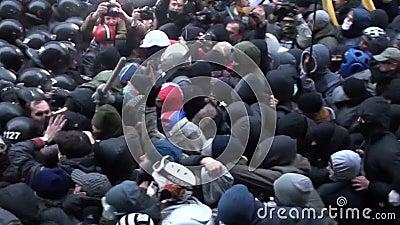 Assault. Ukraine. Kiev, protesters stormed the presidential administration
