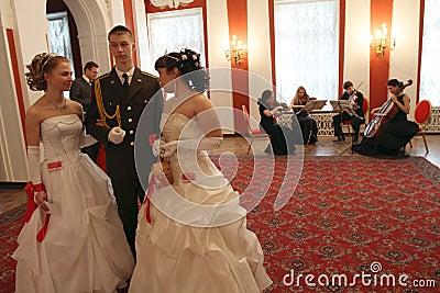 Assemblée de noblesse de Moscou de bille de source Image stock éditorial