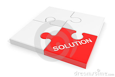 Assembled solution puzzle.