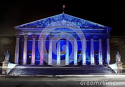 Assemblee Nationale (Palais Bourbon), illumination