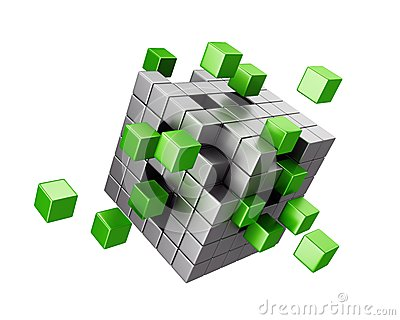 Assembling cube structure