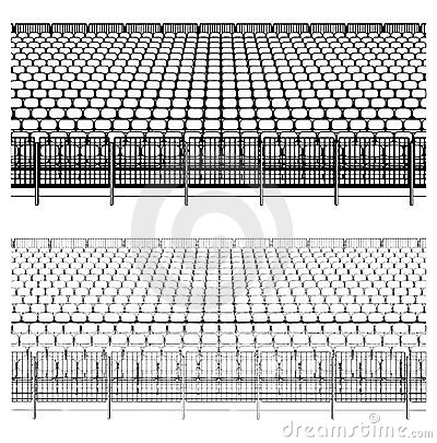 Assembling Structure For Sports Stadiums Vector 02