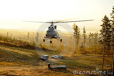Assembly of helicopter