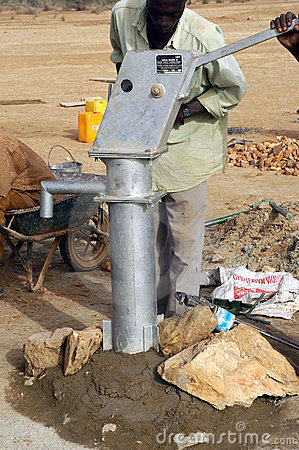 Free Assembly Of A Pump In Burkina Faso Royalty Free Stock Photos - 24118178