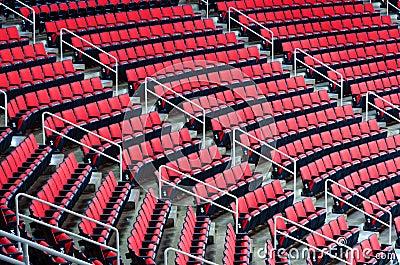 Assentos internos da arena