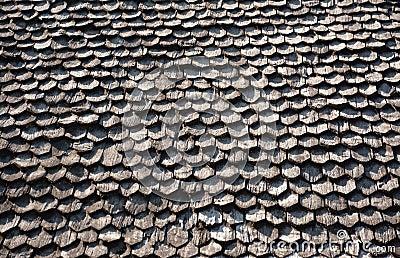 Assicella di legno sul tetto fotografia stock immagine for Stili tetto tetto