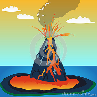 Free Assignment File: Volcano Eruption Stock Photo - 96519620