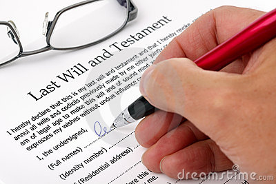 Assinar por último e testamento