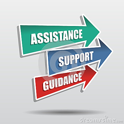 Free Assistance, Support, Guidance In Arrows, Flat Design Stock Image - 37610401
