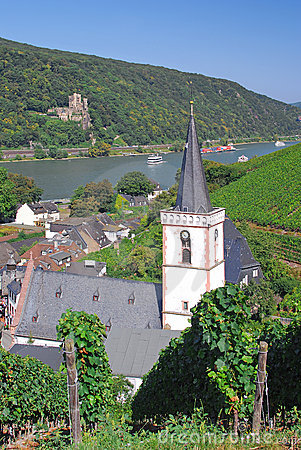 Assmannshausen,River Rhine,Germany