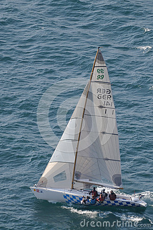 Asso 99 sailing during Centomiglia 2012 Editorial Photo
