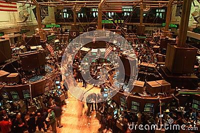 Assoalho da Bolsa de Nova Iorque Fotografia Editorial