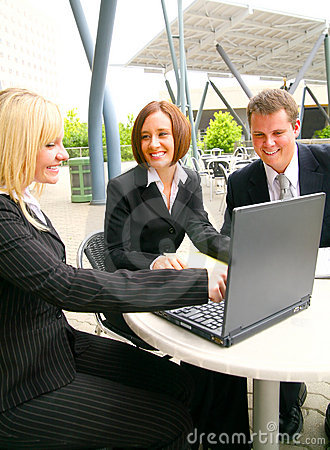Associate Showing Laptop