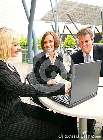 Associate Showing Laptop