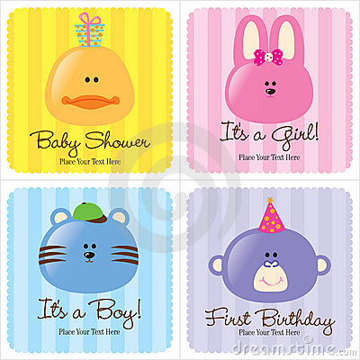 Free Assorted Baby Cards Royalty Free Stock Image - 8969736