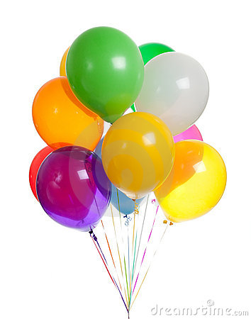 Free Assorted Balloons On A White Background Stock Images - 11207024