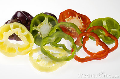 Assorted bell pepper slices