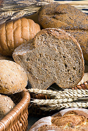 Assorted Bread with wheat 2