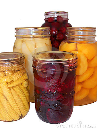 Assorted canned fruit