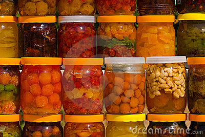 Assorted canned fruits