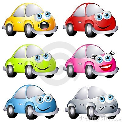 Free Assorted Cartoon Bug Style Cars Royalty Free Stock Photography - 4737927