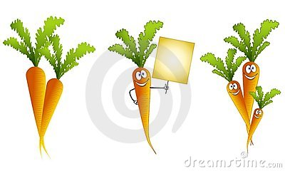 Assorted Cartoon Carrots