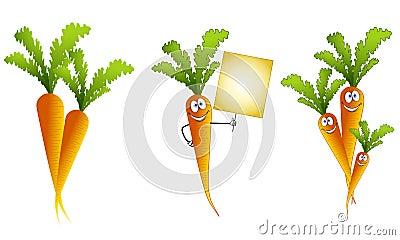 Assorted Cartoon Carrots