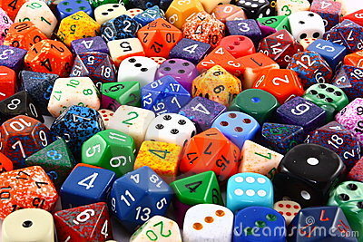 Assorted Colorful Dice Background
