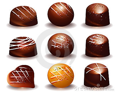 Assorted of Delicious chocolate truffles