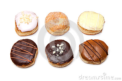 Assorted Donuts with Chocolate Frosting