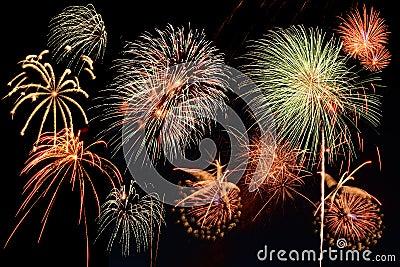 Assorted fireworks