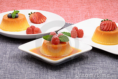 Assorted flan desserts