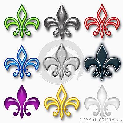 Assorted Fleur-de-Lis Designs