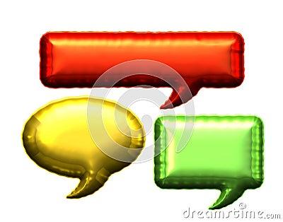 Blank foil message bubble balloon