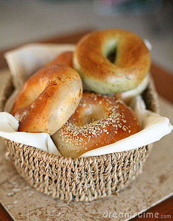 Free Assorted Fresh Bagels Royalty Free Stock Photography - 3879587